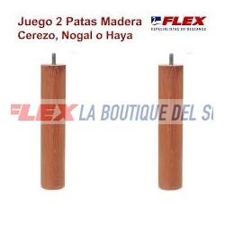 Patas madera Nogal,Haya o Cerezo (26cm)